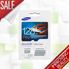 Samsung 128GB PRO MicroSD SDXC Brand New Memory Card with Adapter UK SELLER