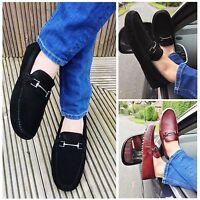 watch 3b964 6360c Mens BlackBurgundy Casual Smart Slip On Leather Walking Mocassin Driving  Shoes