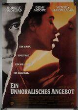DS457 - Gerollt/KINOPLAKAT - EIN UNMORALISCHES ANGEBOT - Robert Redford, Demi Mo