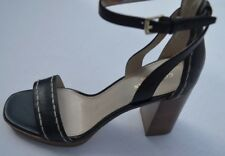 NEW Cole Haan Signature Black Block Heeled Open Toe Shoes Size 6B