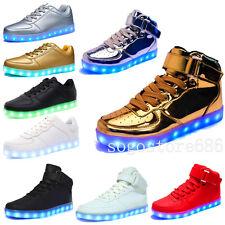 7 Color Women Men's LED  Light Up Shoes Luminous Trainer shoes USB Rechargeable