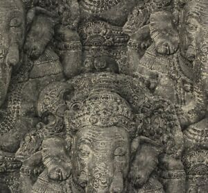 Rasch Tapete Vlies Crispy Paper schwarz Ganesha Elefant 525502 (2,12€/1qm)