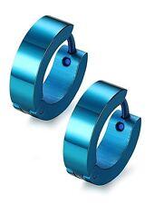 1 Pair Titanium Steel Unique Hoop Earrings For Men Women Unisex Huggie Earrings