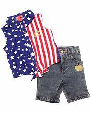 Apple Bottom Girl's Outfit Shirt & Jean Capris Set Size 12 Months