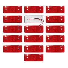 16 LED Luci Lato Luce Rossa 12v Lampada Camion Rimorchio Camion