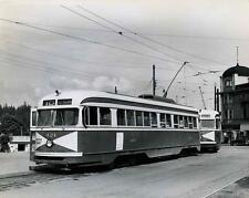 Photo. ca 1944. Vancouver, BC Canada.  Trams (streetcars) Stanley Park Loop