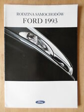 Ford Gama 1993 polaco Mkt Folleto-Fiesta Escort Mondeo Scorpio xr2i Xr3i