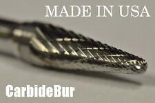 "BRAND NEW 1/4"" 14 Taper Radius Carbide Bur Tool Bit Die Grinder USA SL-2 DOUBLE"