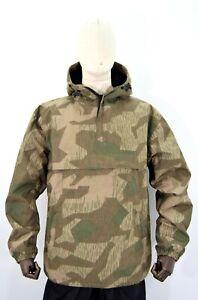 German Army WW2 Splinter Camouflage Anorak Fur Lined Showerproof Windproof Smock