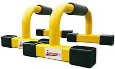"""Push-Up Stands Bars Parallettes Set for Workout Exercise 12""""x 7""""x 5.5"""" Yellow"""