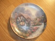 July Chandler's Cottage By Thomas Kinkade Simpler Times Calendar Plate 1998