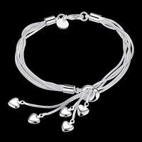 5-Heart Kette Geflochtene gewundenes Armband Armband Armbänder Schmuck Gift D4Z2