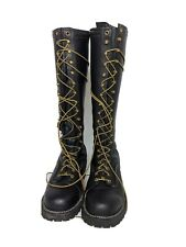 "Wesco Highliner 18"" Boots Lineman Logger Pole Climbing Black Men's 9D Vibram USA"