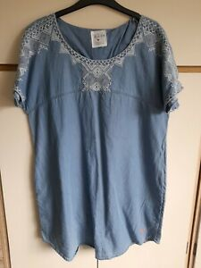 Ladies Country Rose Denim Tunic Size 16