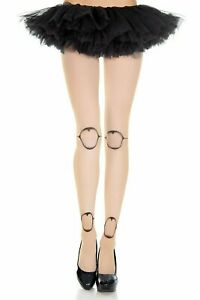 Doll Legs Tights Opaque Beige with Black