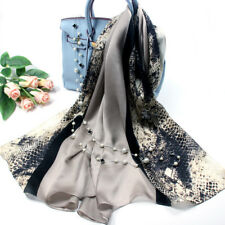 """100% Pure Mulberry Silk Women Large Long Scarf Shawl Contrast Color 71""""*26"""""""