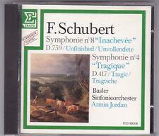 F.SCHUBERT-SYMPHONIE NR.4 + 8 ARMIN JORDAN CD 1983 BASLER/ERATO TOP!