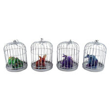 Set of 4 Dragon in Cage Dinosaur Ornament Figurines Toy Art Figure Gifts Decor