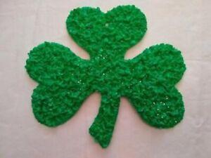 Vintage Melted Plastic Popcorn St. Patrick's Day Shamrock Decoration