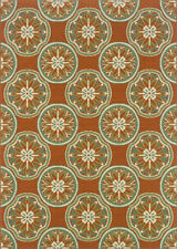 """3x5 Sphinx Circles Flowers Casual Rust 8323D Area Rug - Approx 2' 5"""" x 4' 5"""""""