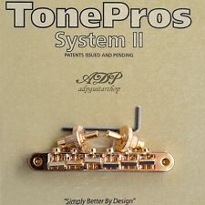 TonePros NVR2-G CHEVALET Vintage fits Nashville ABR-narrow Tune-O-Matic Bridge G