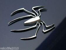 3D Chrome Spider Emblem Logo Car Truck Bike Van Auto Decal Badge Sticker Silver