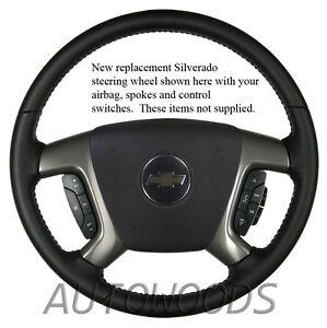 07 08 09 10 11 12 13 Suburban Tahoe Sierra Yukon Leather Steering Base Wheel OEM