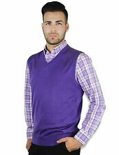 BLUE OCEAN MEN'S V-NECK CLASSIC SOLID SWEATER VEST (SV-243)