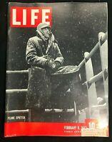 LIFE MAGAZINE - Feb 8 1943 - PLANE SPOTTER / Montgomery in Africa / WWII Era Ads