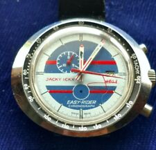 NOT RUNNING VINTAGE HEUER LEONIDAS EASY RIDER CHRONOGRAPH JACKY ICKX MENS WATCH