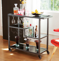 Bar Cart Simple Bar Carts on Wheels Rolling Liquor Serving Trolley Entertaining