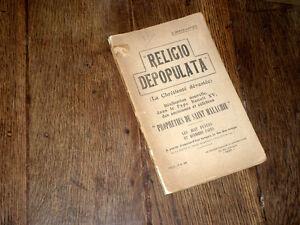 religio depopulata prophéties St Malachie chrétienté dévastée 1915 Demar-Latour