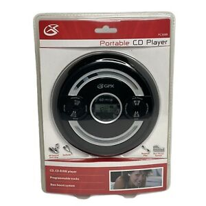 Portable Cd Disk Player Stereo Earbuds Anti-Skip Protection Black PC308B GPX
