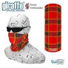 Red Birdi Scottish Tartan Multifunctional Headwear Neckwarmer Snood Bandana Tube
