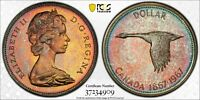 1967 CANADA SILVER DOLLAR PCGS MS65 TRUE VIEW UNC BU TONED COLOR MONSTER #4