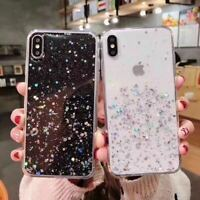Bling Glitter Cases iPhone 7 Plus 8 XR XS Max Clear Gel Soft Phone Case Cover