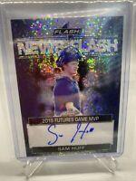 2019 LEAF FLASH Baseball SAM HUFF RC AUTO BLACK #'d /50 Texas Rangers