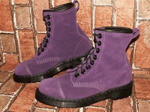 Dr. Martens AirWair CAREY suede leather boots purple uk 6 eu 39 us 8 Doc#500