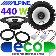 "Ford Fiesta MK8 440 Watts Alpine 6.5"" 2 Way Rear Door Car Speaker Upgrade Kit"