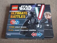 LEGO - STAR WARS ( ULTIMATE BATTLES X3 BOOKS PLUS A GIANT FOLD-OUT POSTER ) NEW