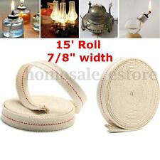 15' Roll 7/8'' White Flat Cotton Alcohol Wick For Glass Oil Lamps and Lanterns