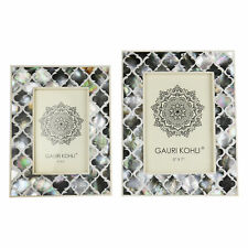 Gauri Kohli Equinox Black Mother of Pearl Picture Frames (Twin Pack)