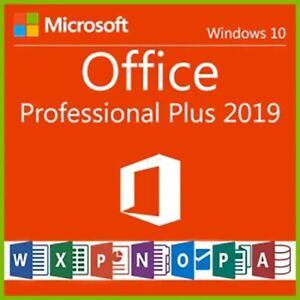 MICROSOFT OFFICE PROFESSIONAL PLUS 2019, 1 PC, KEIN ABO, RECHNUNG, NEU, DEUTSCH