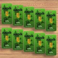 10x Goldbarren á 0,10 Gramm NADIR 999,9 Au Gold Barren 1g 0,1g LBMA Neu+OVP