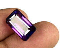 Certified Color Changing Sapphire Gemstone 12.75 Ct 100% Natural Octagon C1849
