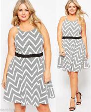 Plus Size Polyester Polka Dot Dresses for Women