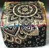 Indian Mandala Cotton Square Floor Pillow Cushion Cover Pouf Cotton Footstool
