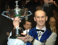 PETER EBDON - GREAT SNOOKER PLAYER - SIGNED COLOUR CHAMPIONSHIP WINNING PHOTO