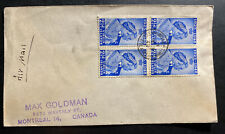 1949 Tortola Virgin Island Airmail cover To Canada King George Silver Weeding