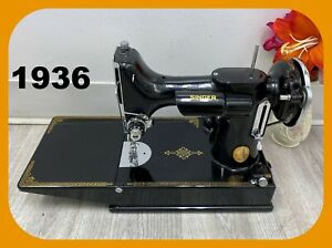 SEWING MACHINE SINGER FEATHERWEIGHT 221 Series AE From 1936 SIMPLY BEAUTIFUL